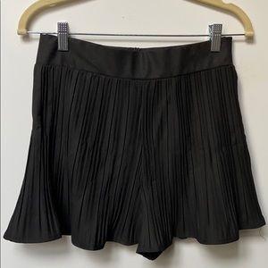 NWT Zara a Black Ruffle Shorts